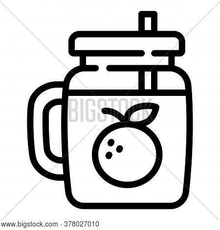Smoothie Icon. Outline Smoothie Vector Icon For Web Design Isolated On White Background