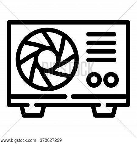 Conditioner Outdoor Fan Icon. Outline Conditioner Outdoor Fan Vector Icon For Web Design Isolated On
