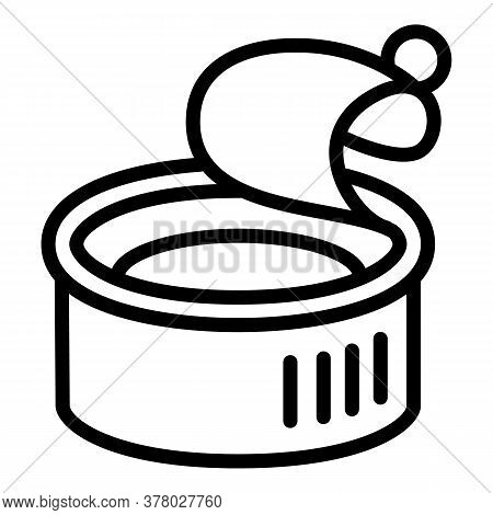 Fish Tin Can Icon. Outline Fish Tin Can Vector Icon For Web Design Isolated On White Background
