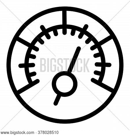 High Speedometer Icon. Outline High Speedometer Vector Icon For Web Design Isolated On White Backgro