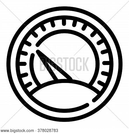 Classic Speedometer Icon. Outline Classic Speedometer Vector Icon For Web Design Isolated On White B