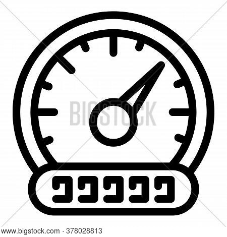Car Tachometer Icon. Outline Car Tachometer Vector Icon For Web Design Isolated On White Background