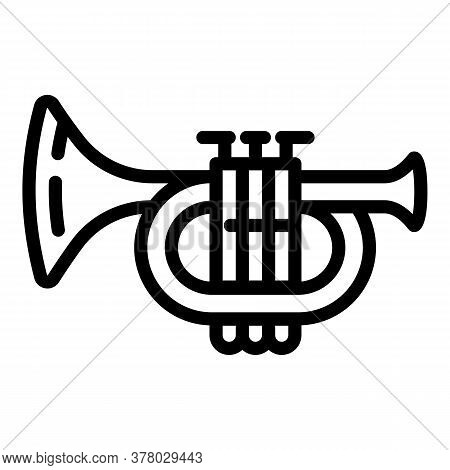 Music Trumpet Icon. Outline Music Trumpet Vector Icon For Web Design Isolated On White Background