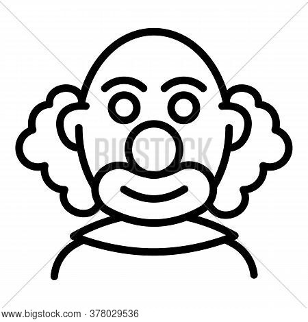 Bald Clown Icon. Outline Bald Clown Vector Icon For Web Design Isolated On White Background