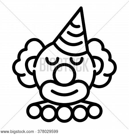 Birthday Clown Icon. Outline Birthday Clown Vector Icon For Web Design Isolated On White Background
