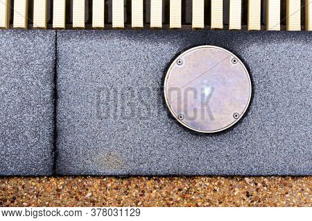 The Surface Texture On The Joint Of The Different Non Slip Flooring And The Metal Cover Of Service H