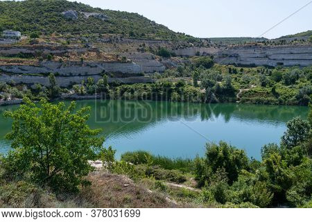 The Inkerman Limestone Quarry. The Historic Site In Crimea