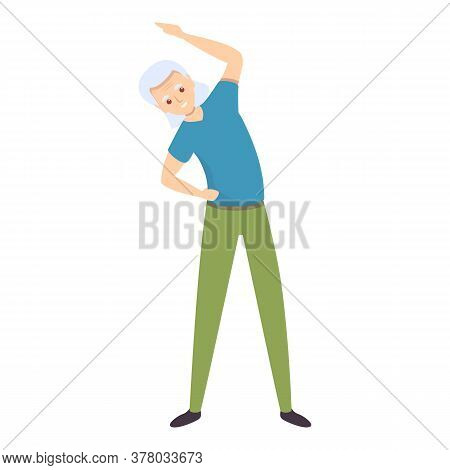 Adult Morning Exercise Icon. Cartoon Of Adult Morning Exercise Vector Icon For Web Design Isolated O