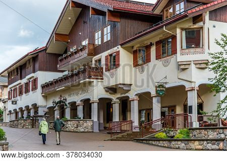 Sun Peaks, British Columbia / Canada - 06/21/2015 Sun Peaks Is Famous For Its Winter Snow Sports And