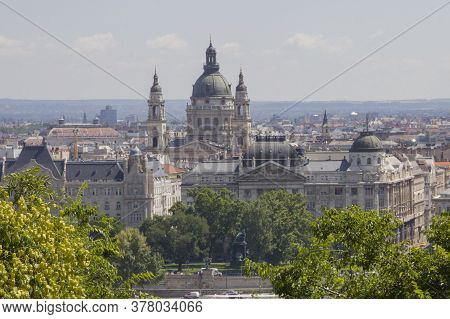View Of Stephens Basilica In Budapest, Hungary