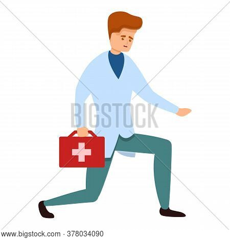 Sport Doctor First Aid Kit Icon. Cartoon Of Sport Doctor First Aid Kit Vector Icon For Web Design Is