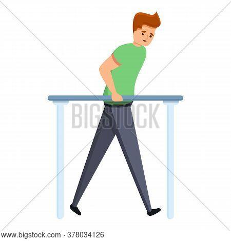 Sportsman Exercise Rehabilitation Icon. Cartoon Of Sportsman Exercise Rehabilitation Vector Icon For