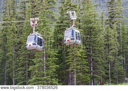 Banff, Alberta / Canada - 06/19/2015 Banff Gondolas Is A Gateway To Sulphur Mountain And A Must See
