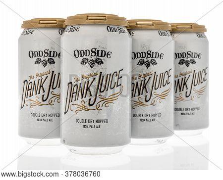 Winneconne,  Wi - 12 July 2020: A Six Pack Of Odd Side Double Dry Hopped Ipa The Original Dank Juice