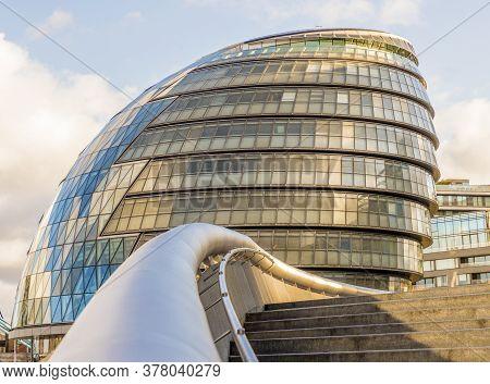 June 2020. London. City Hall In London England Uk