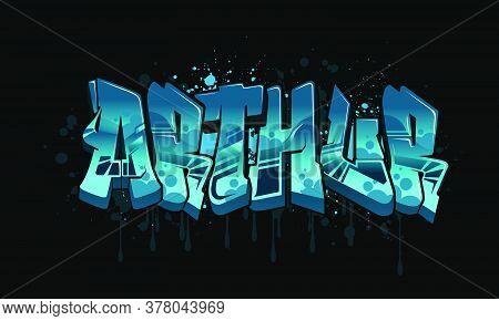 Arthur Graffiti Name Design
