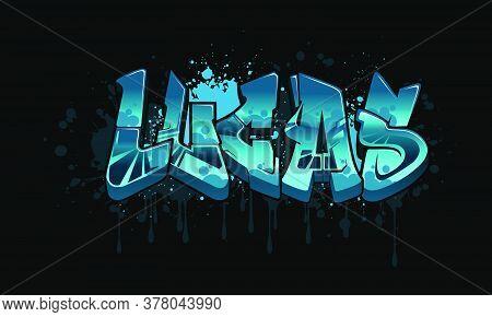 Lucas Graffiti Name Design