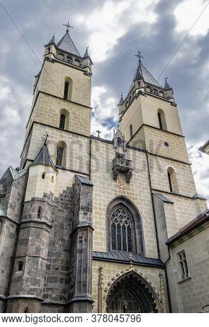 Fortified Benedictine Monastery In Hronsky Benadik, Slovak Republic. Religious Architecture. Travel