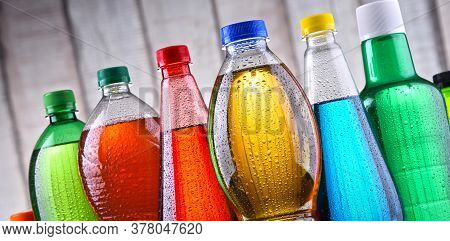 Plastic Bottles Of Assorted Carbonated Soft Drinks