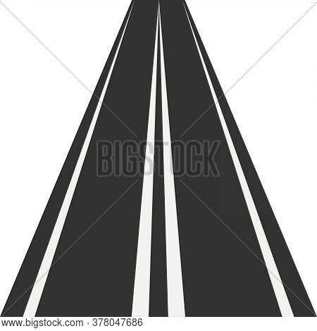 Vertical Straight Road. Asphalt Repetitive Highway. Road Asphalt Straight Seamless.