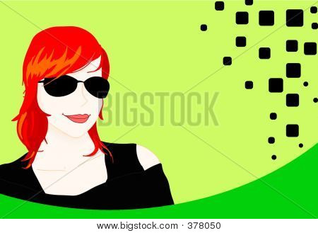 Young Red Haired Lady