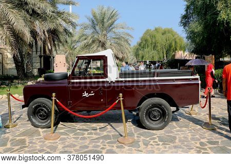 Country-u.a.e, City- Abu Dhabi Date 07/20/2020 View Of Vintage Car At Emirate Heritage Club Heritage