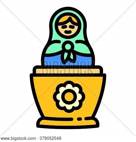 Baby Nesting Doll Icon. Outline Baby Nesting Doll Vector Icon For Web Design Isolated On White Backg