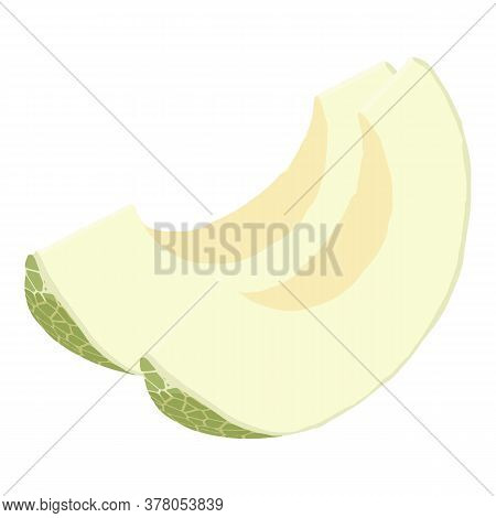 Melon Slices Icon. Isometric Of Melon Slices Vector Icon For Web Design Isolated On White Background