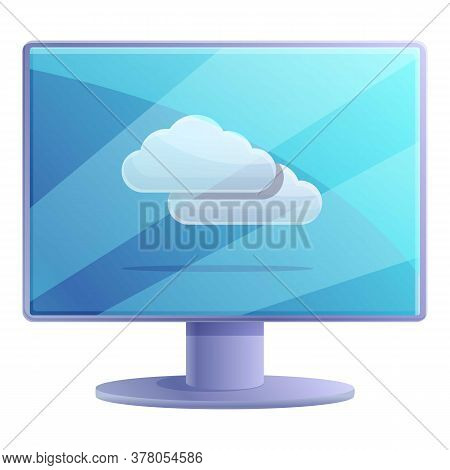 Remote Access Monitor Icon. Cartoon Of Remote Access Monitor Vector Icon For Web Design Isolated On