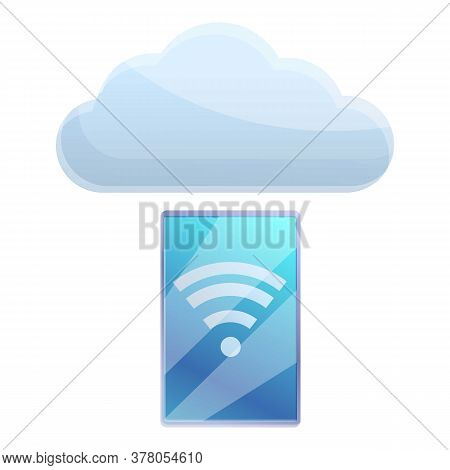 Wifi Remote Access Icon. Cartoon Of Wifi Remote Access Vector Icon For Web Design Isolated On White