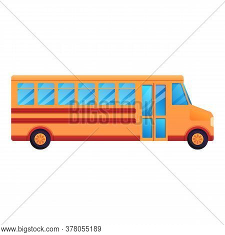 School Bus Icon. Cartoon Of School Bus Vector Icon For Web Design Isolated On White Background