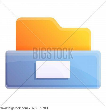 Storage Documents Folder Icon. Cartoon Of Storage Documents Folder Vector Icon For Web Design Isolat