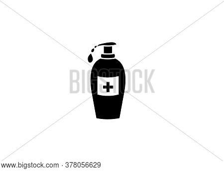 Precautions For Covid-19, Coronavirus Safety Measures Icon, Liquid Soap Icon, Sanitizer Icon,