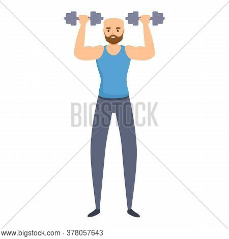 Habit Morning Exercise Icon. Cartoon Of Habit Morning Exercise Vector Icon For Web Design Isolated O