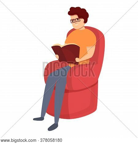 Habit Reading Book Icon. Cartoon Of Habit Reading Book Vector Icon For Web Design Isolated On White