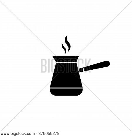 Jezve Turkish Coffe Pot Icon. Vector On Isolated White Background. Eps 10