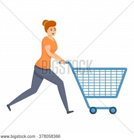 Habit Shop Cart Icon. Cartoon Of Habit Shop Cart Vector Icon For Web Design Isolated On White Backgr