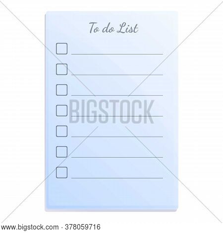 Note To Do List Icon. Cartoon Of Note To Do List Vector Icon For Web Design Isolated On White Backgr