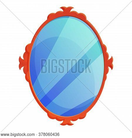Dressing Room Mirror Icon. Cartoon Of Dressing Room Mirror Vector Icon For Web Design Isolated On Wh