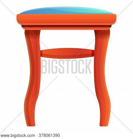 Dressing Room Backless Chair Icon. Cartoon Of Dressing Room Backless Chair Vector Icon For Web Desig