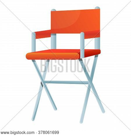 Director Chair Icon. Cartoon Of Director Chair Vector Icon For Web Design Isolated On White Backgrou