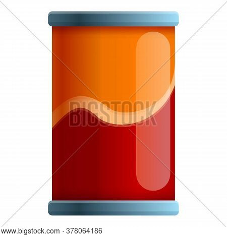 Cold Food Tin Can Icon. Cartoon Of Cold Food Tin Can Vector Icon For Web Design Isolated On White Ba