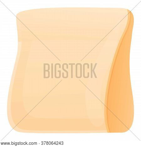 Food Paper Pack Icon. Cartoon Of Food Paper Pack Vector Icon For Web Design Isolated On White Backgr