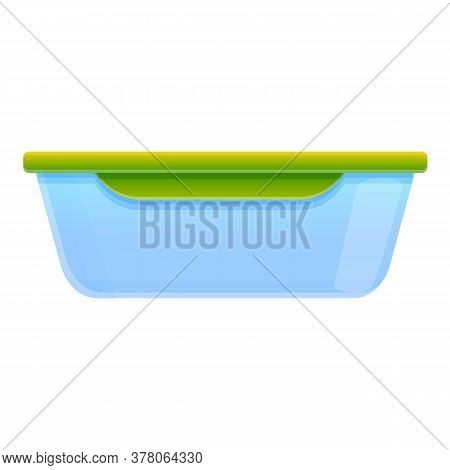 Food Container Icon. Cartoon Of Food Container Vector Icon For Web Design Isolated On White Backgrou