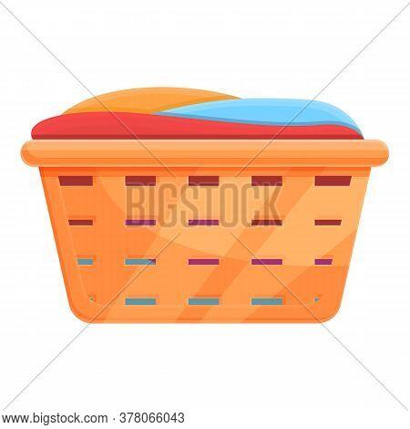 Laundry Basket Icon. Cartoon Of Laundry Basket Vector Icon For Web Design Isolated On White Backgrou