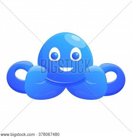 Bath Octopus Toy Icon. Cartoon Of Bath Octopus Toy Vector Icon For Web Design Isolated On White Back