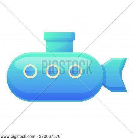 Bath Toy Submarine Icon. Cartoon Of Bath Toy Submarine Vector Icon For Web Design Isolated On White