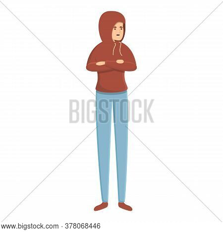 Anxious Boy Icon. Cartoon Of Anxious Boy Vector Icon For Web Design Isolated On White Background