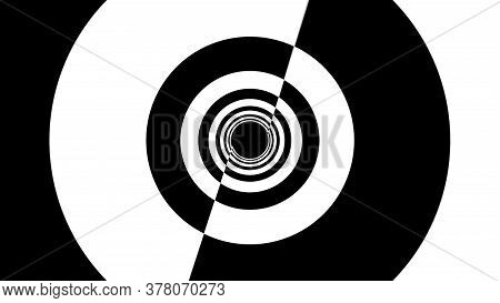 Black And White Stripes. Computer Generated Abstract Background, 3d Render