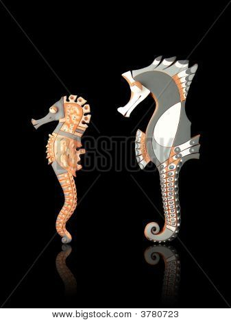 Handcrafted  Couple Of Seahorses